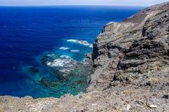 Linea costiera di Alojera Fotografie Stock Libere da Diritti