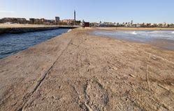 Linea costiera di Barcellona. La Spagna. Immagine Stock
