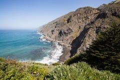 Linea costiera di California in grande Sur, California Fotografia Stock