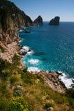 Linea costiera di Capri Fotografia Stock