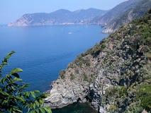 Linea costiera di Cinque Terre Fotografia Stock