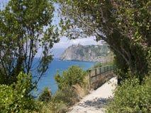 Linea costiera di Cinque Terre immagini stock libere da diritti