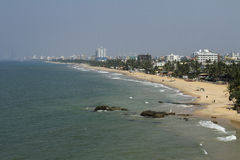 Linea costiera di Colombo, Sri Lanka, Oceano Indiano Fotografia Stock