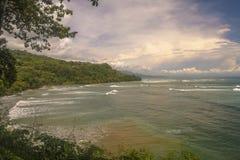 Linea costiera di Costa Rica del sud Fotografie Stock Libere da Diritti