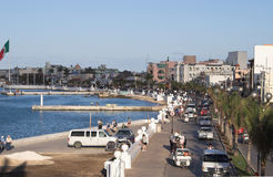 Linea costiera di Cozumel Messico Immagine Stock
