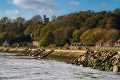 Linea costiera di Culross, Scozia immagine stock