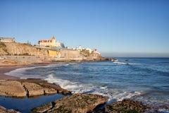 Linea costiera di Estoril nel Portogallo Fotografia Stock