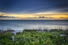 Linea costiera di Florida al tramonto Immagini Stock Libere da Diritti