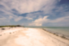 Linea costiera di Florida del fondo della sfuocatura bella Immagine Stock Libera da Diritti