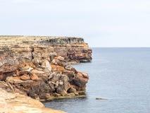 Linea costiera di Formentera fotografie stock