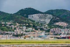 Linea costiera di Genova e spiaggia, Pegli immagini stock libere da diritti