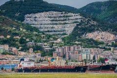 Linea costiera di Genova e spiaggia, Pegli fotografie stock
