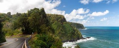 Linea costiera di Hana Highway immagini stock