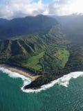 Linea costiera di Kauai Fotografia Stock