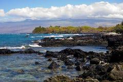 Linea costiera di Kona Fotografia Stock