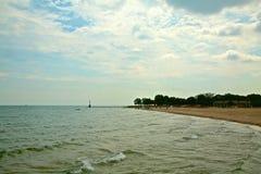 Linea costiera di lago Michigan immagine stock
