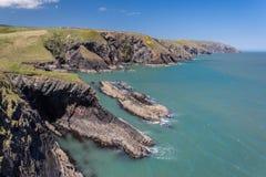 Linea costiera di Lingua gallese Fotografia Stock Libera da Diritti