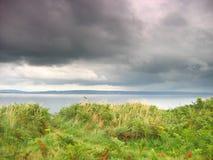 Linea costiera di Lingua gallese Fotografia Stock