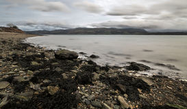 Linea costiera di Lingua gallese a Bangor Fotografie Stock Libere da Diritti