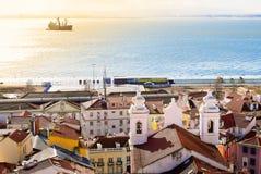 Linea costiera di Lisbona Immagini Stock Libere da Diritti