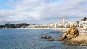 Linea costiera di Lloret de Mar Fotografie Stock