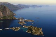Linea costiera di Lofoten, Norvegia Immagine Stock