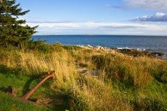 Linea costiera di Maine Fotografie Stock