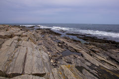 Linea costiera di Maine - vista dell'Oceano Atlantico Immagini Stock