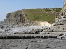Linea costiera di Monknash fotografie stock libere da diritti