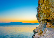 Linea costiera di Nafplio Fotografie Stock Libere da Diritti