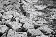Linea costiera di Napoli, Italia immagini stock libere da diritti