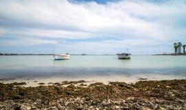 Linea costiera di Oporto Cesareo in costa ionica, Italia Fotografia Stock Libera da Diritti