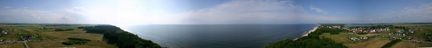Linea costiera di panorama Fotografie Stock Libere da Diritti
