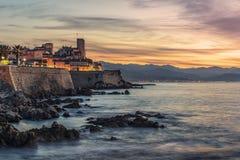 Linea costiera di Riviera francese a Antibes immagine stock libera da diritti