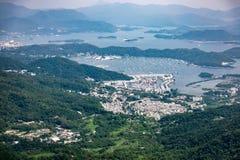 Linea costiera di Sai Kung, Hong Kong fotografia stock libera da diritti