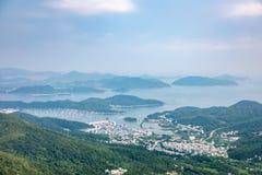 Linea costiera di Sai Kung, Hong Kong fotografie stock
