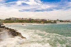 Linea costiera di Santander Immagine Stock