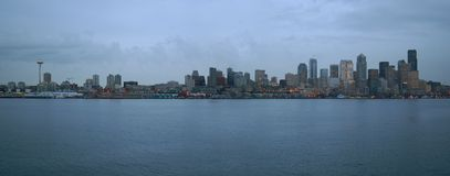 Linea costiera di Seattle Fotografie Stock Libere da Diritti