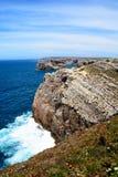 Linea costiera di St Vincent del capo, Portogallo Fotografia Stock Libera da Diritti