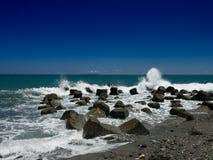 Linea costiera di Taiwan con le rocce fotografie stock libere da diritti