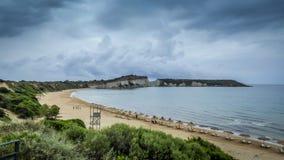 Linea costiera di Zante Grecia areial immagini stock