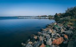 Linea costiera e spiagge in Ochakov, Ucraina fotografia stock libera da diritti