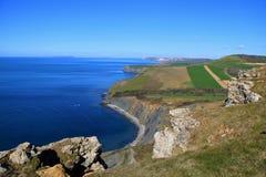 Linea costiera giurassica, Dorset, Regno Unito Fotografia Stock Libera da Diritti