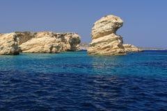 Linea costiera greca dell'isola Fotografia Stock Libera da Diritti