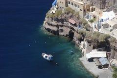Linea costiera greca dell'isola Immagine Stock