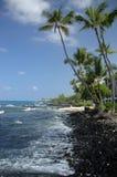 Linea costiera Hawai di Kona Fotografie Stock Libere da Diritti