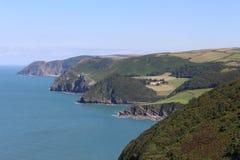 Linea costiera inglese, Devon Immagini Stock