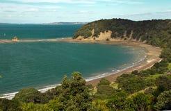 Linea costiera intorno ad Auckland Immagini Stock