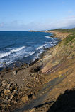 Linea costiera irregolare Fotografia Stock