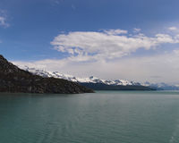 Linea costiera irregolare dell'Alaska Immagini Stock